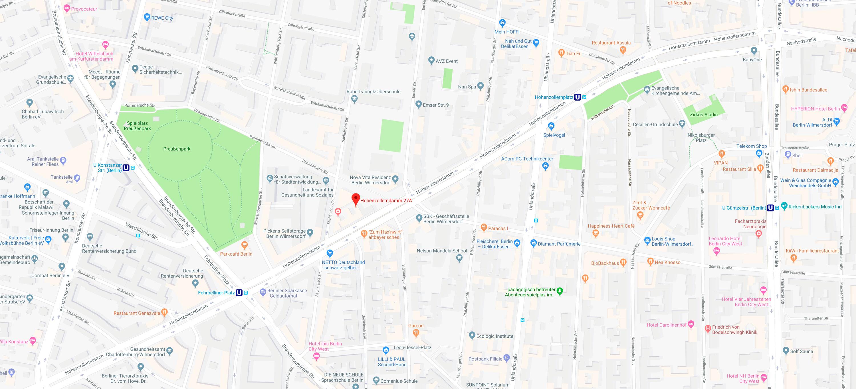 Stadtplan Berlin Hohenzollerndamm 27a
